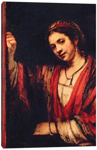 Portrait Of Hendrickje Stoffels Canvas Art Print