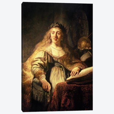 Saskia As Minerva Canvas Print #BMN7200} by Rembrandt van Rijn Canvas Wall Art