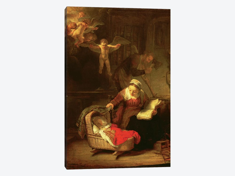 The Holy Family, c.1645 by Rembrandt van Rijn 1-piece Art Print
