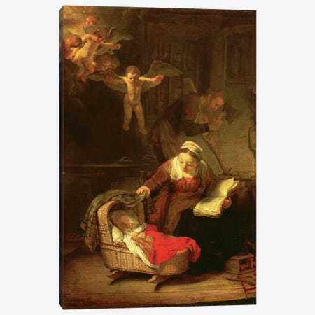 The Holy Family, c.1645 Canvas Print #BMN7201} by Rembrandt van Rijn Canvas Art