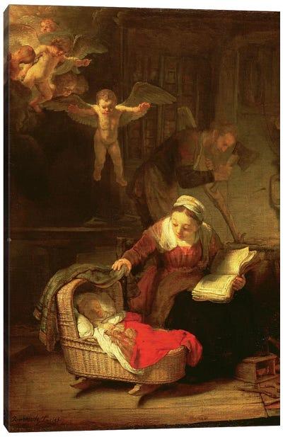 The Holy Family, c.1645 Canvas Art Print