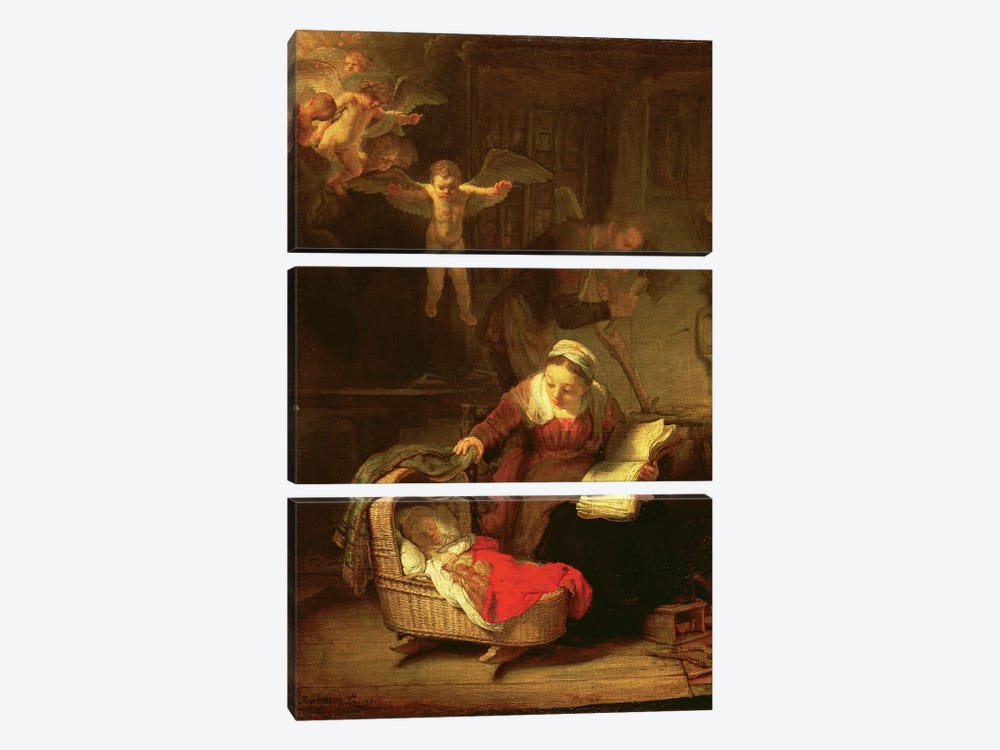 The Holy Family, c.1645 by Rembrandt van Rijn 3-piece Canvas Print