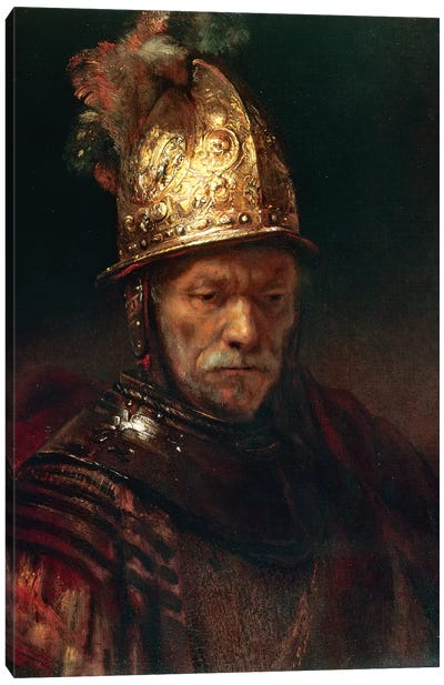 The Man With The Golden Helmet, 1650-55 Canvas Art Print
