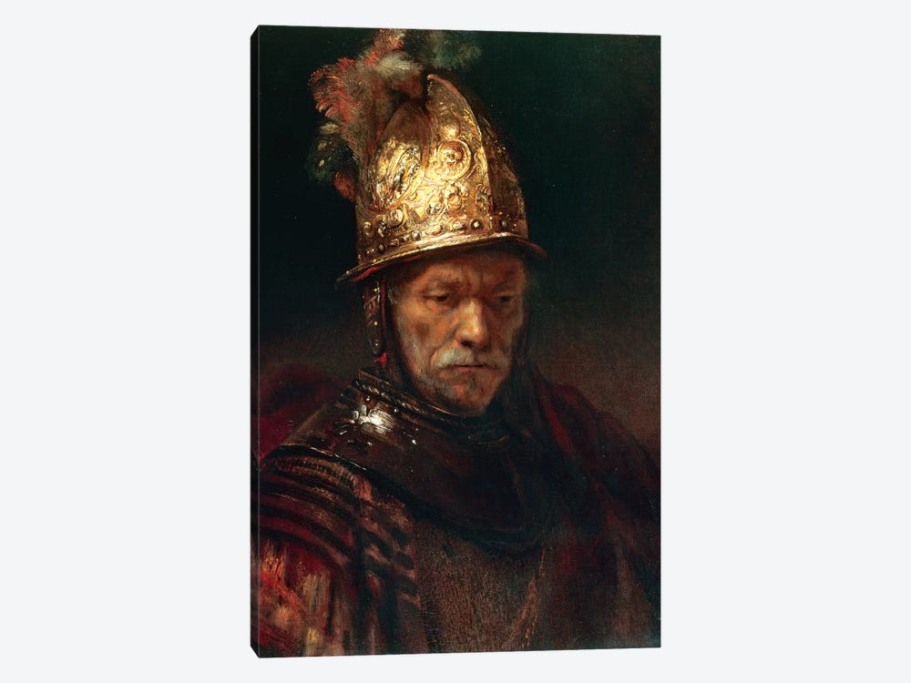 The Man With The Golden Helmet, 1650-55 by Rembrandt van Rijn 1-piece Canvas Wall Art