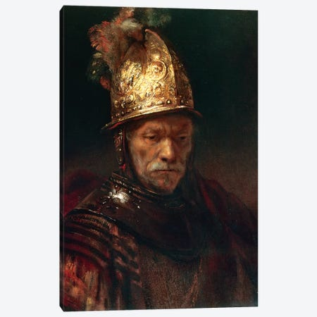 The Man With The Golden Helmet, 1650-55 Canvas Print #BMN7202} by Rembrandt van Rijn Canvas Wall Art
