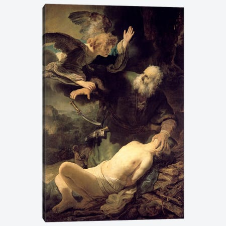 The Sacrifice Of Abraham, 1635 Canvas Print #BMN7204} by Rembrandt van Rijn Canvas Art Print