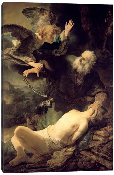 The Sacrifice Of Abraham, 1635 Canvas Art Print