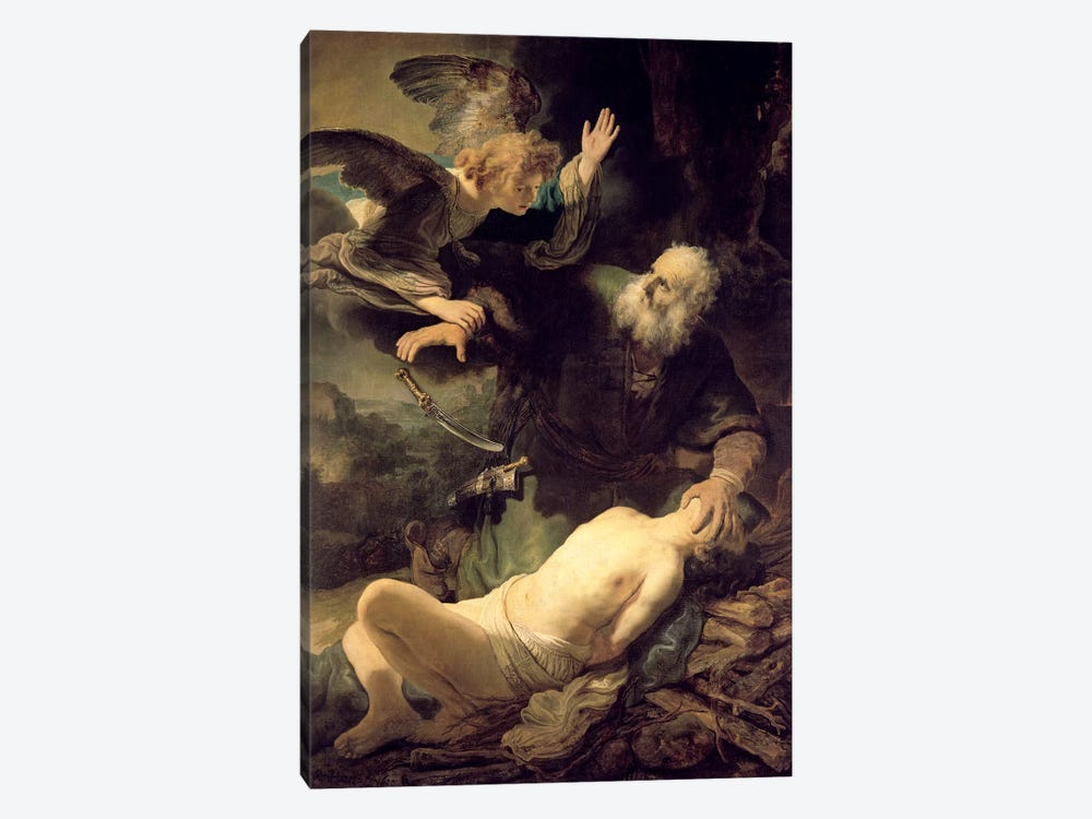 The Sacrifice Of Abraham, 1635 by Rembrandt van Rijn 1-piece Canvas Wall Art