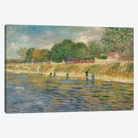 Bank Of The Seine, 1887 Canvas Print #BMN7205} by Vincent van Gogh Art Print