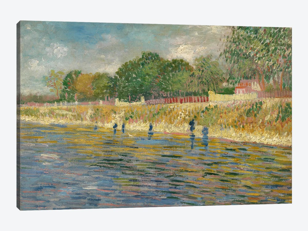 Bank Of The Seine, 1887 by Vincent van Gogh 1-piece Canvas Art Print