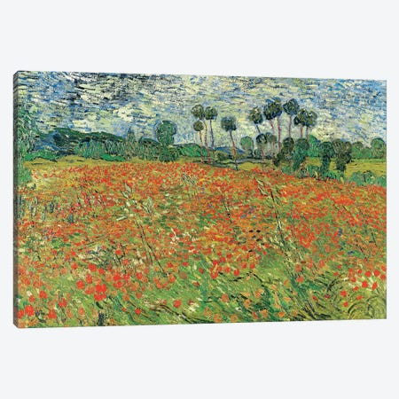 Field Of Poppies, Auvers-sur-Oise, 1890 Canvas Print #BMN7208} by Vincent van Gogh Canvas Wall Art