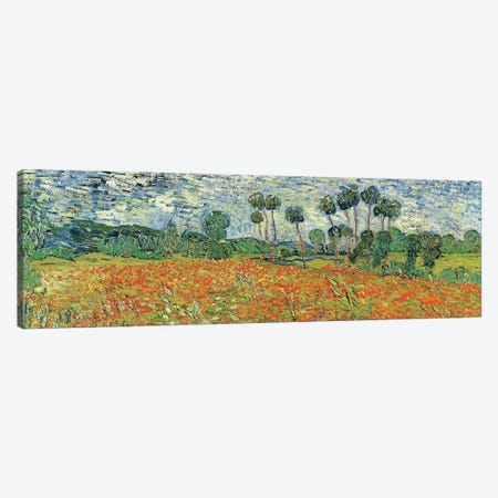 Field Of Poppies, Auvers-sur-Oise, 1890 Canvas Print #BMN7209} by Vincent van Gogh Canvas Wall Art
