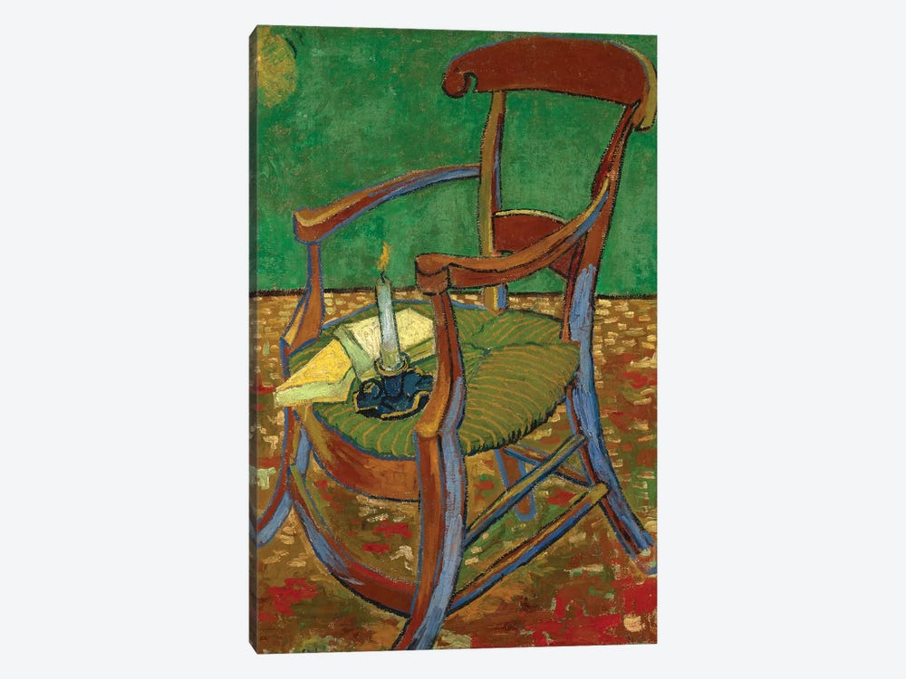 Gauguin's Chair, 1888 by Vincent van Gogh 1-piece Canvas Art Print