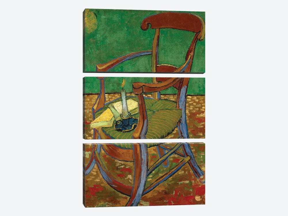 Gauguin's Chair, 1888 by Vincent van Gogh 3-piece Art Print
