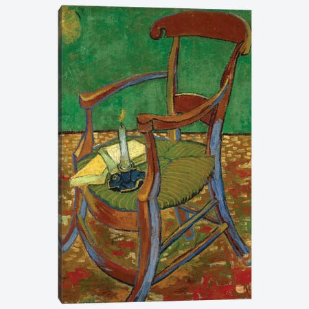 Gauguin's Chair, 1888 Canvas Print #BMN7212} by Vincent van Gogh Art Print