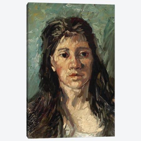 Head Of A Prostitute, 1885 3-Piece Canvas #BMN7213} by Vincent van Gogh Canvas Print
