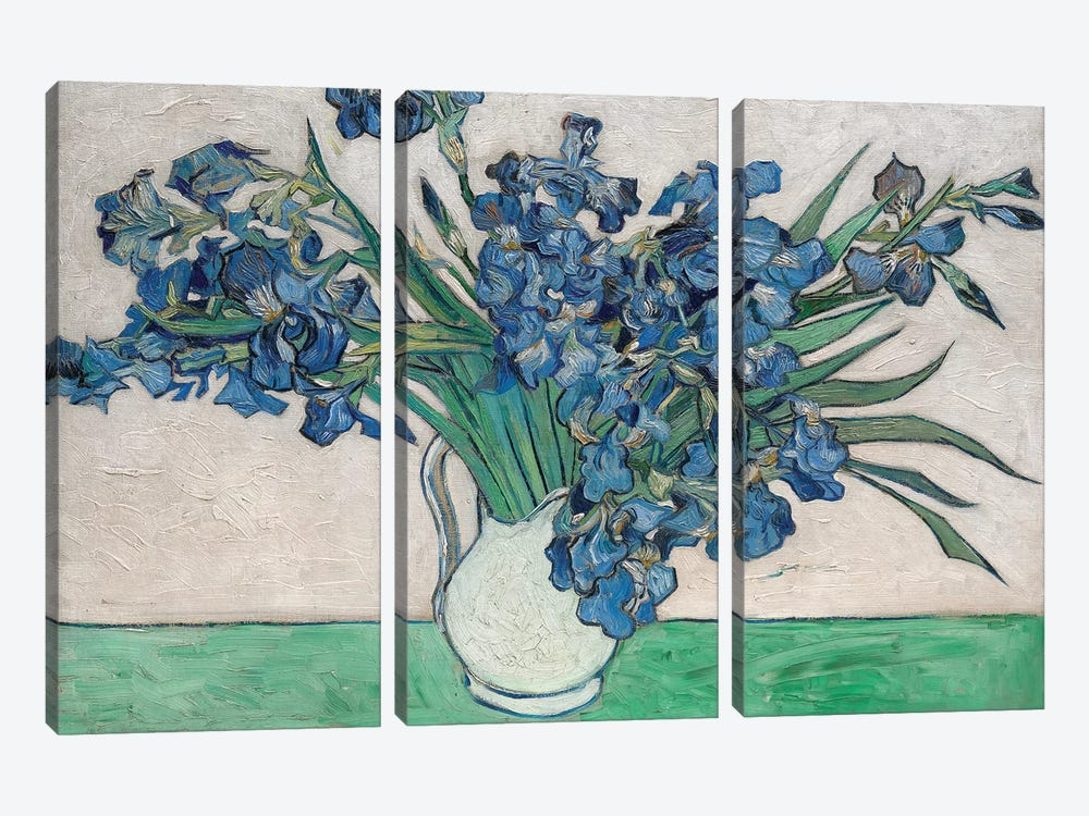 Irises, 1890 by Vincent van Gogh 3-piece Canvas Wall Art