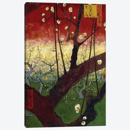 Japonaiserie: Flowering Plum Orchard (After Hiroshige), Paris, 1887 Canvas Print #BMN7216} by Vincent van Gogh Canvas Wall Art