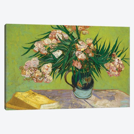Oleanders, 1888 Canvas Print #BMN7218} by Vincent van Gogh Canvas Art Print