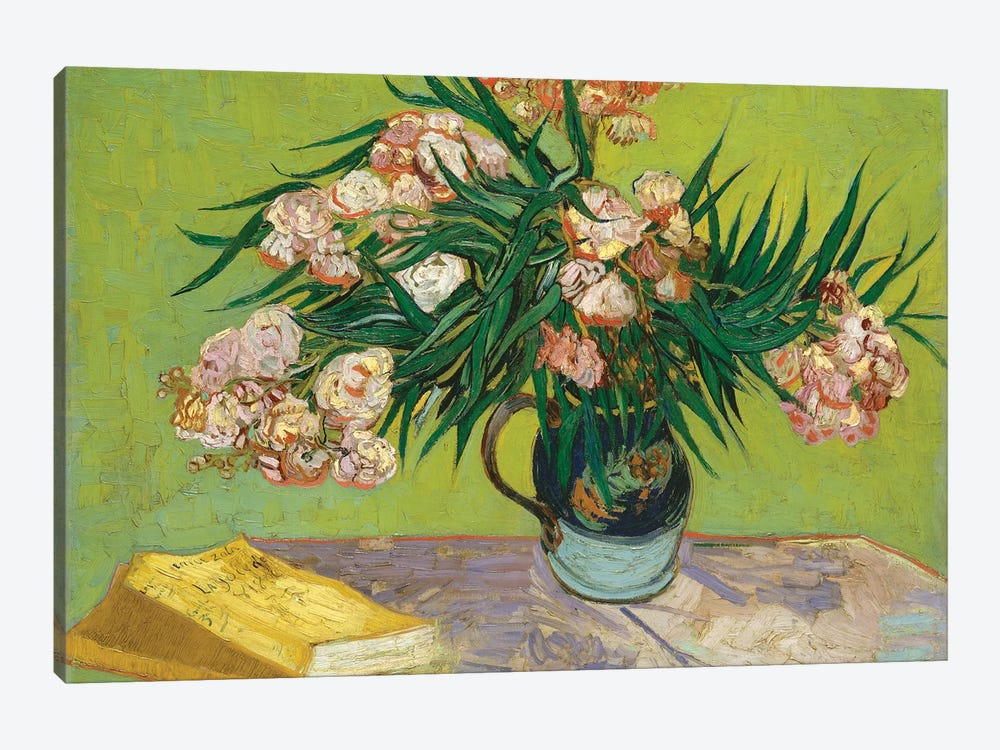 Oleanders, 1888 by Vincent van Gogh 1-piece Canvas Print