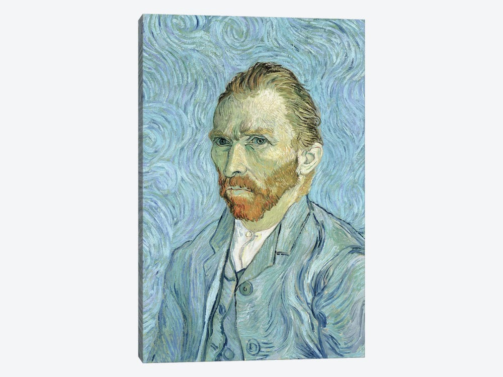 Self Portrait, September 1889 by Vincent van Gogh 1-piece Canvas Art