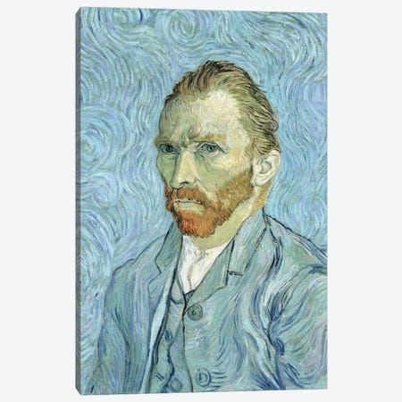 Self Portrait, September 1889 3-Piece Canvas #BMN7222} by Vincent van Gogh Canvas Artwork