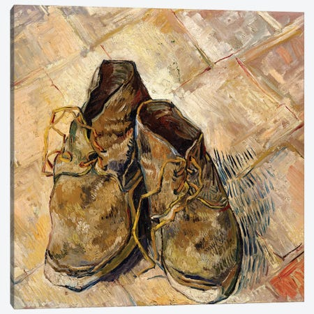 Shoes, 1888 Canvas Print #BMN7224} by Vincent van Gogh Canvas Print