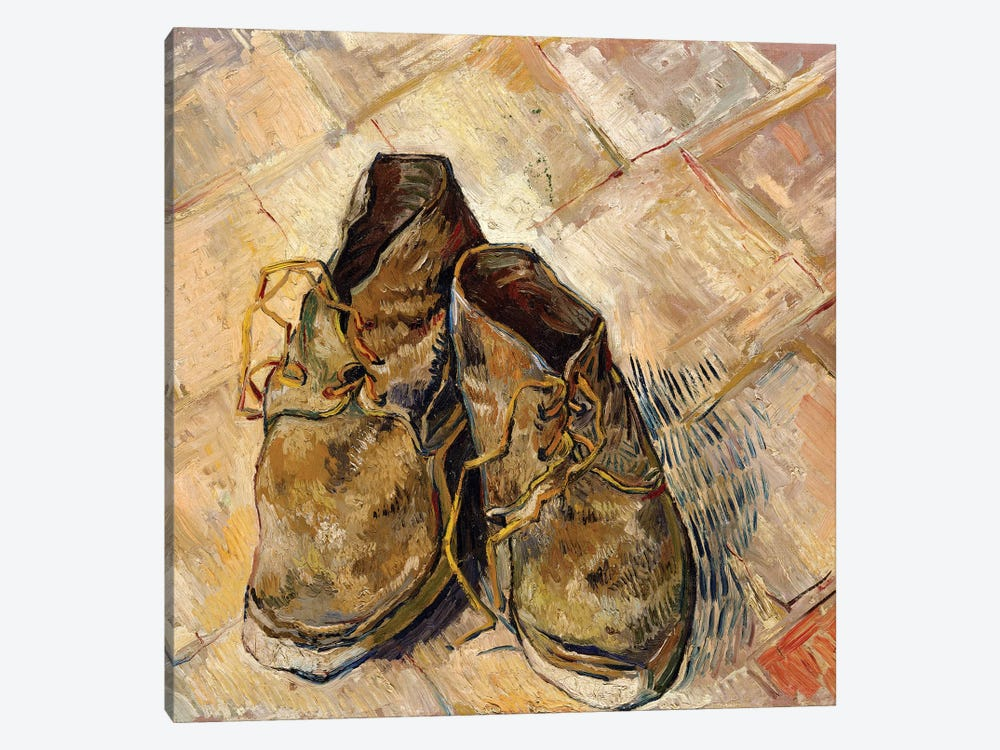 Shoes, 1888 by Vincent van Gogh 1-piece Canvas Artwork