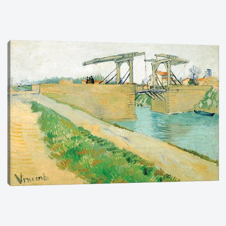 The Langlois Bridge, March 1888 Canvas Print #BMN7227} by Vincent van Gogh Canvas Art Print