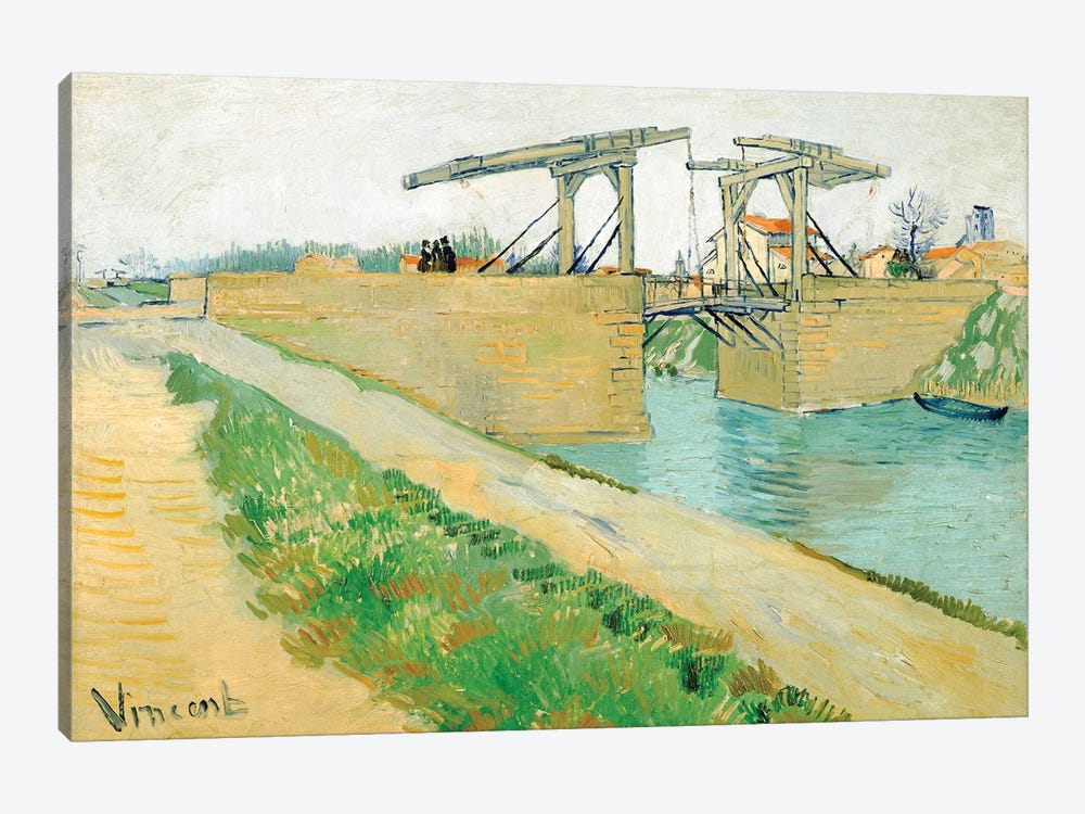 The Langlois Bridge, March 1888 by Vincent van Gogh 1-piece Canvas Print