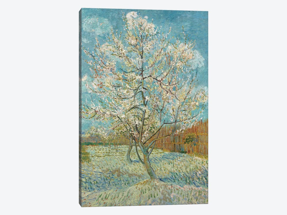 The Pink Peach Tree, 1888 by Vincent van Gogh 1-piece Canvas Wall Art