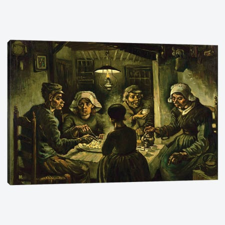The Potato Eaters, 1885 Canvas Print #BMN7229} by Vincent van Gogh Canvas Artwork