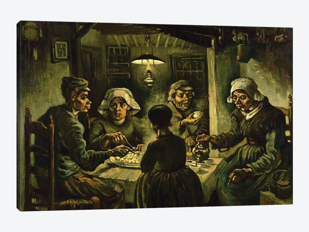 The Potato Eaters, 1885 by Vincent van Gogh 1-piece Canvas Art Print