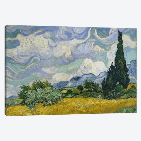 Wheat Field With Cypresses, June-July 1889 (Metropolitan Museum Of Art, NYC) Canvas Print #BMN7230} by Vincent van Gogh Art Print
