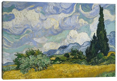 Wheat Field With Cypresses, June-July 1889 (Metropolitan Museum Of Art, NYC) Canvas Art Print
