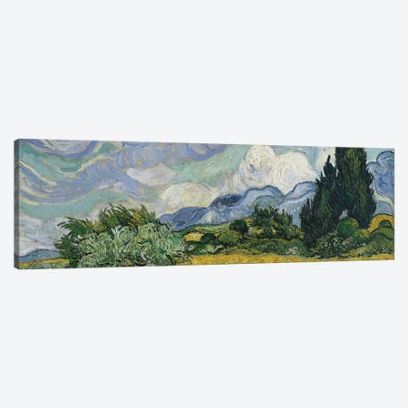 Wheat Field With Cypresses, June-July 1889 (Metropolitan Museum Of Art, NYC) Canvas Print #BMN7231} by Vincent van Gogh Canvas Art Print