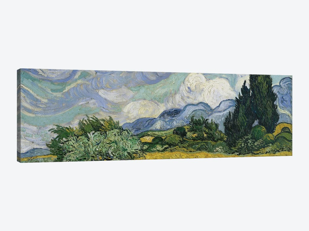 Wheat Field With Cypresses, June-July 1889 (Metropolitan Museum Of Art, NYC) by Vincent van Gogh 1-piece Canvas Art