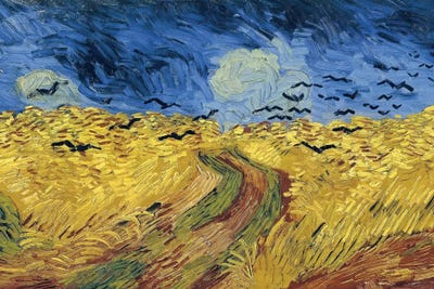 Excellent Wheatfield With Crows, 1890 Canvas Art Print by Vincent van Gogh  DO64