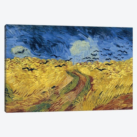 Wheatfield With Crows, 1890 Canvas Print #BMN7232} by Vincent van Gogh Canvas Art Print