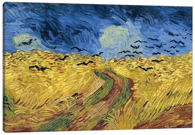 Wheatfield With Crows, 1890 Canvas Art Print