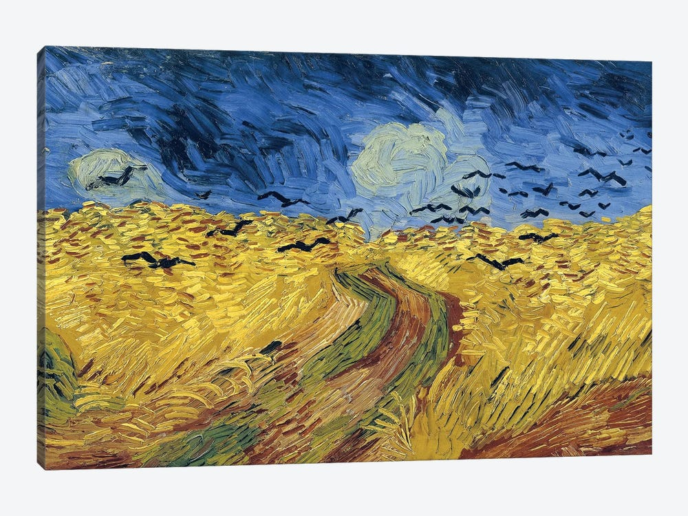 Wheatfield With Crows, 1890 by Vincent van Gogh 1-piece Canvas Art Print