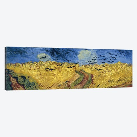 Wheatfield With Crows, 1890 Canvas Print #BMN7233} by Vincent van Gogh Canvas Print
