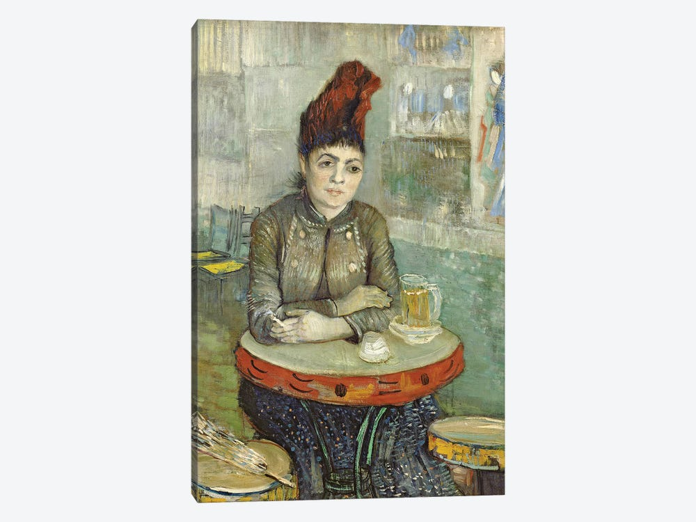 Woman In The Café Tambourin, 1887 by Vincent van Gogh 1-piece Canvas Wall Art