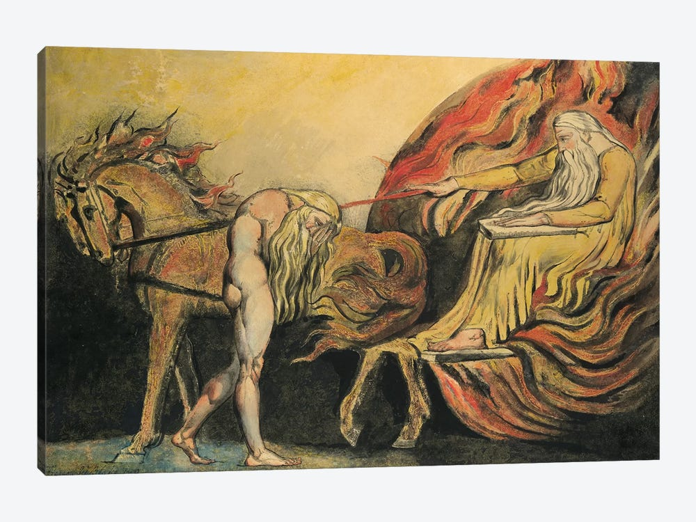 God Judging Adam, c.1795 by William Blake 1-piece Canvas Print