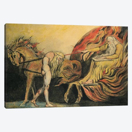 God Judging Adam, c.1795 Canvas Print #BMN7236} by William Blake Canvas Artwork