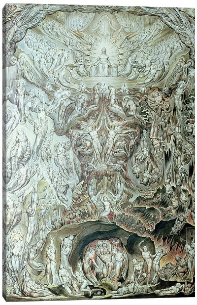 A Vision Of The Last Judgement Canvas Art Print