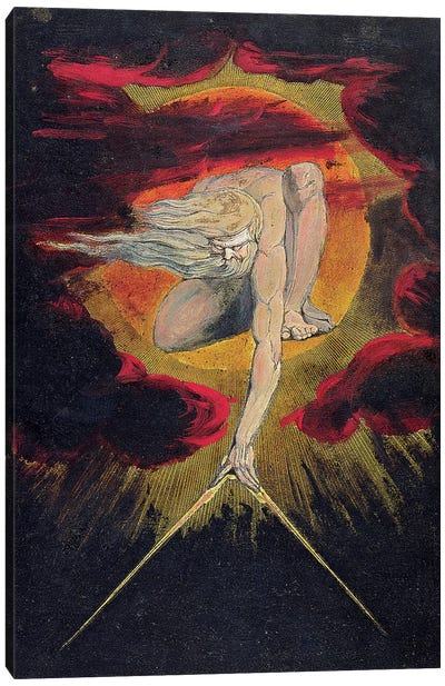 "The Ancient Of Days (Illustration From ""Europe a Prophecy"" Copy A), 1795 Canvas Art Print"
