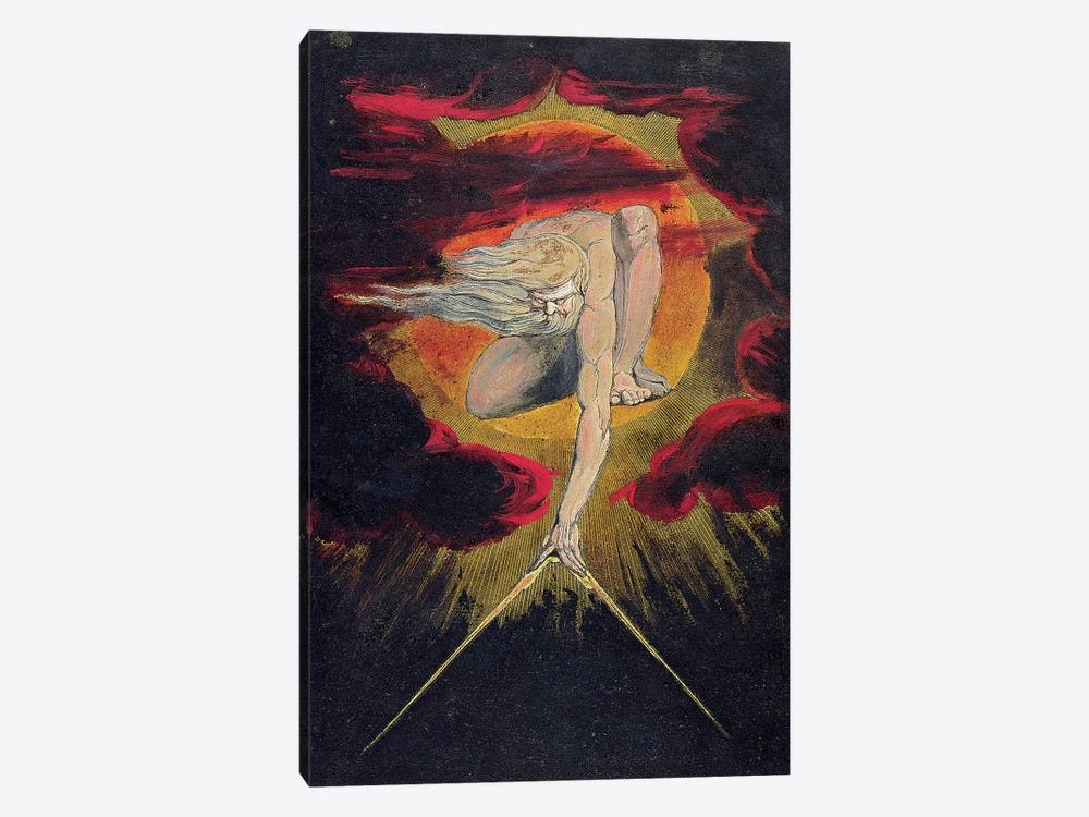 "The Ancient Of Days (Illustration From ""Europe a Prophecy"" Copy A), 1795 by William Blake 1-piece Canvas Wall Art"