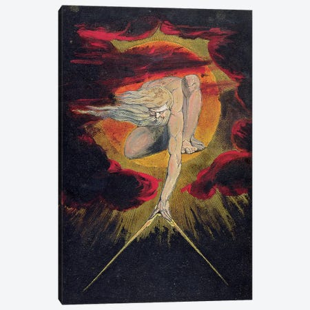 """The Ancient Of Days (Illustration From """"Europe a Prophecy"""" Copy A), 1795 Canvas Print #BMN7239} by William Blake Canvas Print"""