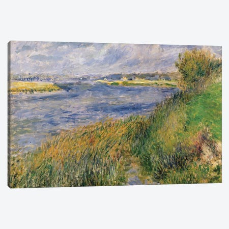 The Banks of the Seine, Champrosay, 1876  Canvas Print #BMN723} by Pierre-Auguste Renoir Canvas Print